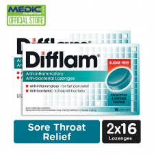 Difflam Anti inflammatory And Anti bacterial Lozenges- Eucalyptus and Menthol Flavour 16s [Pack of 2]