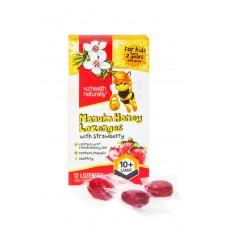 NZ Health Naturally Manuka Honey Lozenges for Kids - with strawberry